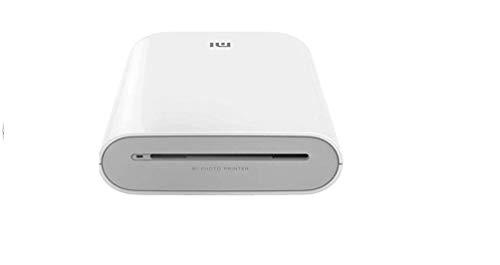 Xiaomi tragbarer Fotodrucker 300dpi Pocket Mini AR Bilddrucker mit DIY Share 500mAh Bilddrucker Zink Papierdrucker, Weiss, a8, TEJ4018GL