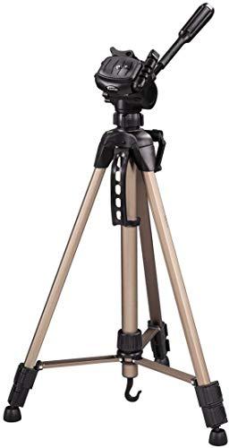 Hama Kamera Stativ Star 61 (Leichtes Dreibeinstativ mit 3-Wege-Kopf, Fotostativ mit 60-153cm Höhe, Tripod inkl. Tragetasche, Kamerastativ passend für Spigelreflex- und Systemkameras) Champagner