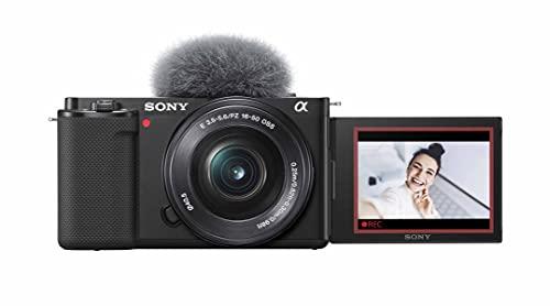 Sony Alpha ZV-E10L   APS-C spiegellose Wechselobjektiv-Vlog-Kamera (schwenkbarer Bildschirm für Vlogging, 4K-Video, Echtzeit-Augen-Autofokus), Schwarz