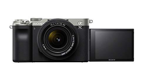 Sony Alpha 7C Spiegellose E-Mount Vollformat-Digitalkamera ILCE-7C (24,2 MP, 7,5cm (3 Zoll) Touch-Display, Echtzeit-AF, 5-Achsen Bildstabilisierung) incl. SEL-2860 Objektiv - Silber/Schwarz