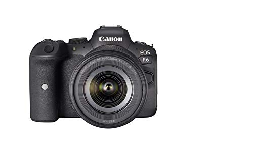 Canon EOS R6 Vollformat Systemkamera - Gehäuse + Objektiv RF 24-105mm F4-7.1 IS STM (spiegellos, 20,1 MP, 4K UHD, 5 Achsen Bildstabilisator, 7,5cm vari angle LCD II, WLAN, Bluetooth, USB 3.1), schwarz