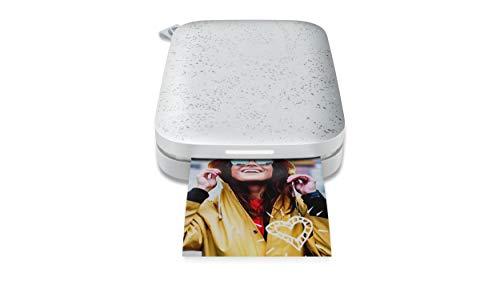 HP Sprocket Mobiler Fotodrucker (Drucken ohne Tinte, Bluetooth, 5 x 7,6 cm Ausdrucke) Luna Pearl