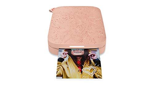 HP Sprocket Mobiler Fotodrucker (Drucken ohne Tinte, Bluetooth, 5 x 7,6 cm Ausdrucke) Blush Pink