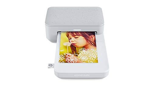 HP Sprocket Studio Fotodrucker (Drucken, scannen, kopieren, Bluetooth, 10 x 15 cm Ausdrucke) Luna Pearl