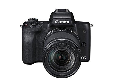 Canon EOS M50 spiegellos Systemkamera (24,1 MP, dreh- und schwenkbares 7,5 cm (3 Zoll) Touchscreen-LCD Display, Digic 8, 4K Video, OLED EVF, WLAN, Bluetooth) mit Objektiv EF-M 18-150mm IS STM schwarz