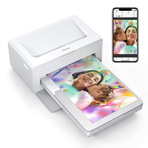 Victure Photo Printer Fotodrucker(Nur Maschine), UK Plug Sofortbilddrucker zum Drucken (4 x 6 inches) Zoll Fotos von Ihrem Telefon Bequem, kompatibel mit iOS- und Android-Geräten