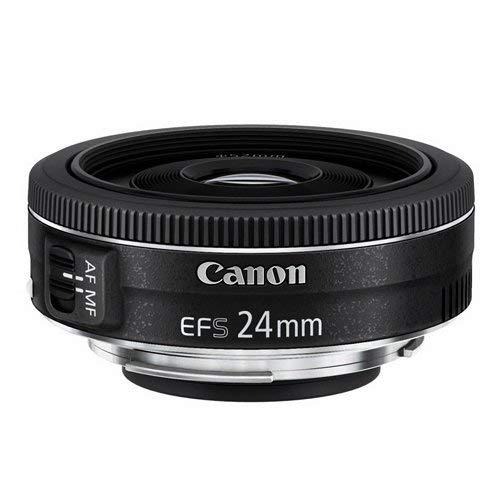 Canon Objektiv EF-S 24mm F2.8 STM Pancake für EOS (Festbrennweite, 52mm Filtergewinde) schwarz