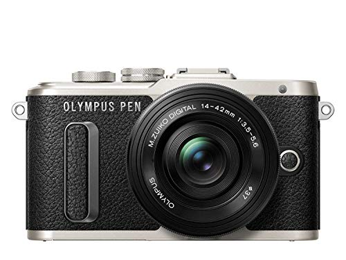 Olympus PEN E-PL8 Kit, Micro Four Thirds Systemkamera + M.Zuiko 14-42mm EZ Zoomobjektiv, schwarz