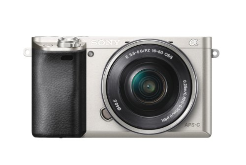 Sony Alpha 6000 Systemkamera (24 Megapixel, 7,5 cm (3 Zoll) LCD-Display, Exmor APS-C Sensor, Full-HD, High Speed Hybrid AF) inkl. SEL-P1650 Objektiv silber