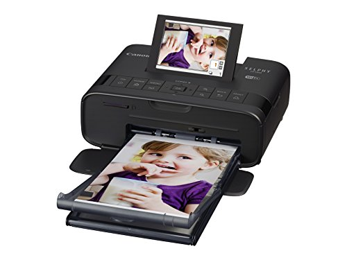 Canon Selphy CP1300 Fotodrucker 10x15 cm (mobiler Drucker, WLAN, USB, 300x300 dpi, optionaler Akku, Farbdisplay, Speicherkartenslot, Apple AirPrint, Passfotodruck, Postkartendruck), schwarz
