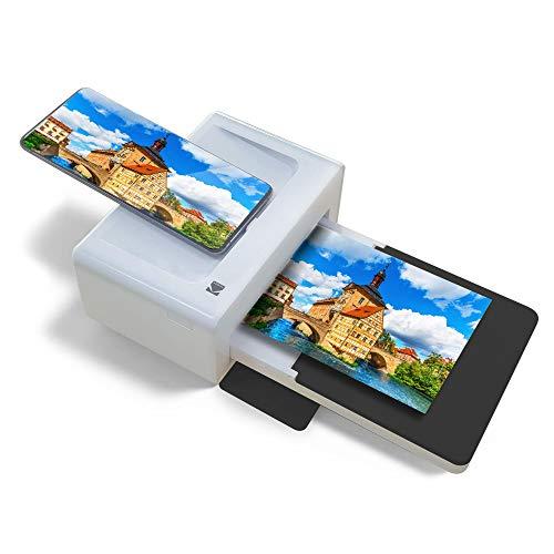 KODAK PD460 – Fotodrucker 10 x 15 cm – Bluetooth & Docking – Weiß & Schwarz, Format Carte postale, 5527020