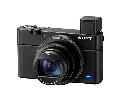 Sony RX100 VI | Premium-Kompaktkamera (1,0-Typ-Sensor, 24-200 mm F2.8-4.5-Zeiss-Objektiv, 4K-Filmaufnahmen und neigbares Display)