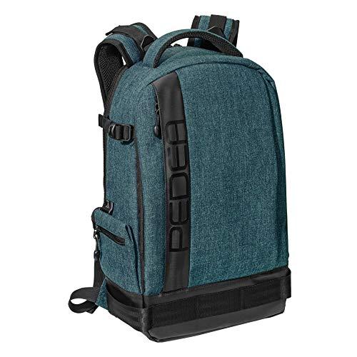 PEDEA DSLR-Kamerarucksack 'Fashion' Fotorucksack für Spiegelreflexkameras mit wasserdichtem Regenschutz und variabler Inneneinteilung (Rucksack, petrol)