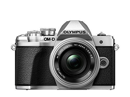 Olympus OM-D E-M10 Mark III Kit, Micro Four Thirds Systemkamera (16 Megapixel, Bildstabilisator, elektronischer Sucher, 4K-Video) + M.Zuiko 14-42mm EZ Zoomobjektiv, silber