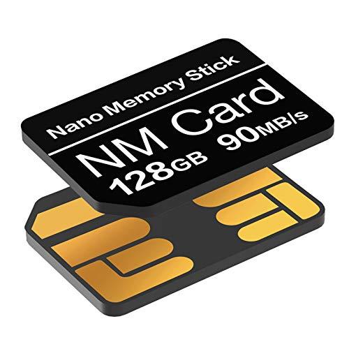 YAOMAISI NM-Karte 128GB 90MB/S Nano-Speicherkarte Nano-Karte Nur für Huawei P30/P30pro/P40-Serie/Mate20-Serie/Mate30-Serie/Mate40/Mate40pro Nano 128 GB-Karte geeignet
