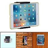 TFY Tablet-Wandhalterung, Küchenwandhalterung für Tablets und Smartphones, passend für Küche, Bad, Schlafzimmer, Lesezimmer und mehr, schwarz.