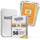 Inspiracles Foto Aufgaben – Inspiration & Fotografieren Lernen mit 52 Fotoaufgaben auf Aufgabenkarten & 10 Spickzettel - mit Metalldose