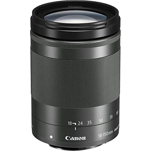Canon Zoomobjektiv EF-M 18-150mm F3.5-6.3 IS STM für EOS M (55mm Filtergewinde, Bildstabilisator, Autofokus), schwarz